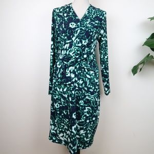 Eva Franco Floral Wrap Midi Dress 10